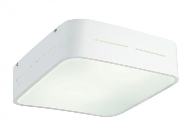 4104200 - Οροφής με Γυαλί σατινάτο λευκό και βάση σε λευκό αλουμίνιο