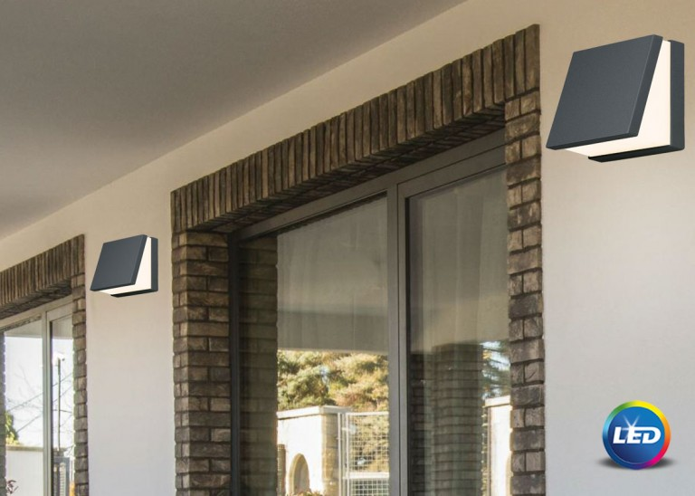 E 118 - LED Επιτοίχιο φωτιστικό εξωτερικού χώρου