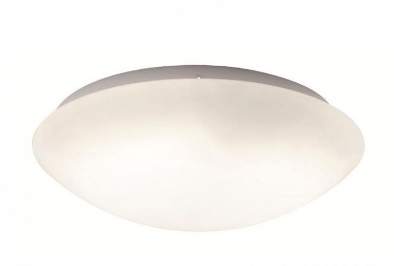 Οροφής με Γυαλί οπάλ σατινάτο και βάση λευκή μεταλλική