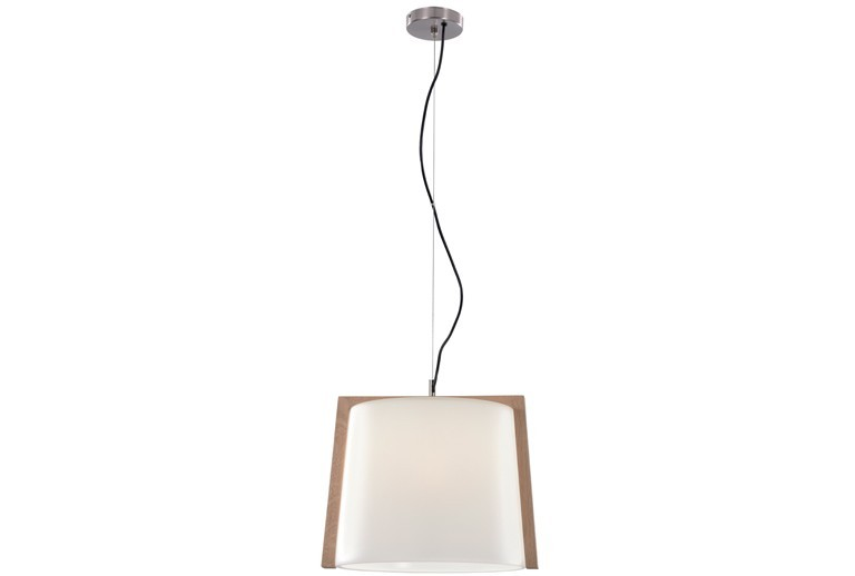 3081600 PENDANT 1L WITH GLASS AND WOOD